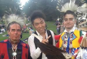 こうきくんは、Family English 留学でアメリカンインディアンを出会った
