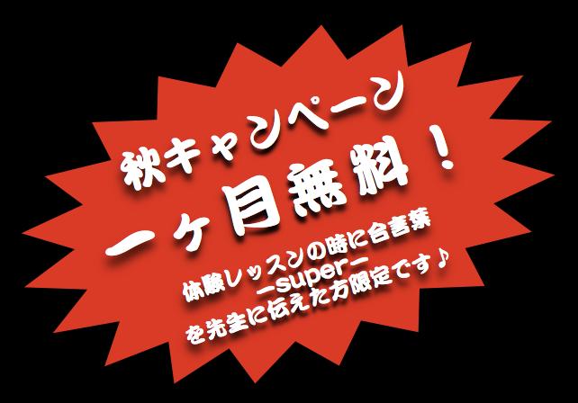 英会話の京都市伏見区桃山大手筋墨染大亀谷教室の秋17年のキャンペーン